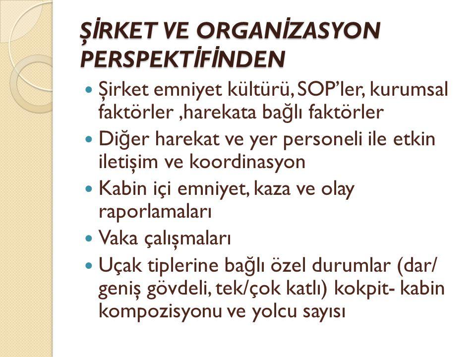 ŞİRKET VE ORGANİZASYON PERSPEKTİFİNDEN