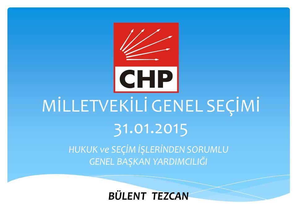 MİLLETVEKİLİ GENEL SEÇİMİ 31.01.2015