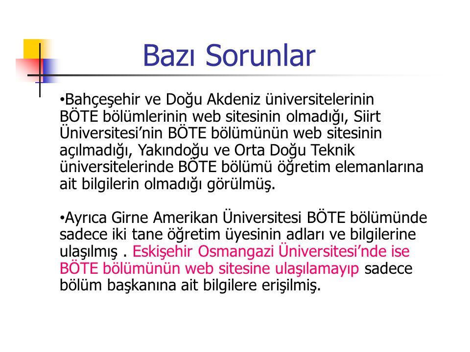 Bazı Sorunlar Bahçeşehir ve Doğu Akdeniz üniversitelerinin