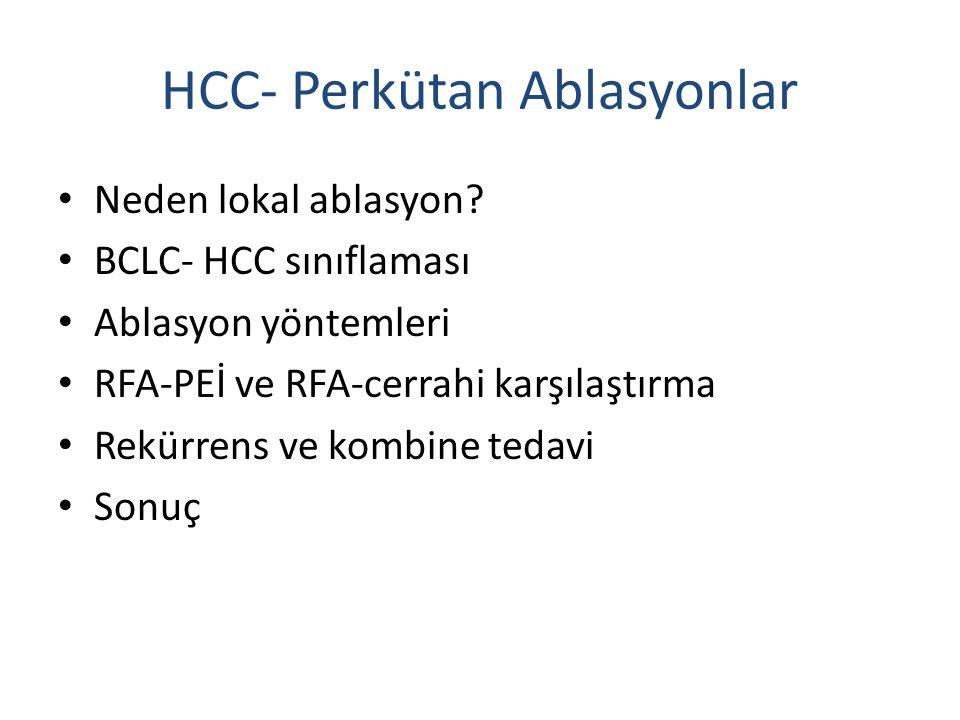 HCC- Perkütan Ablasyonlar