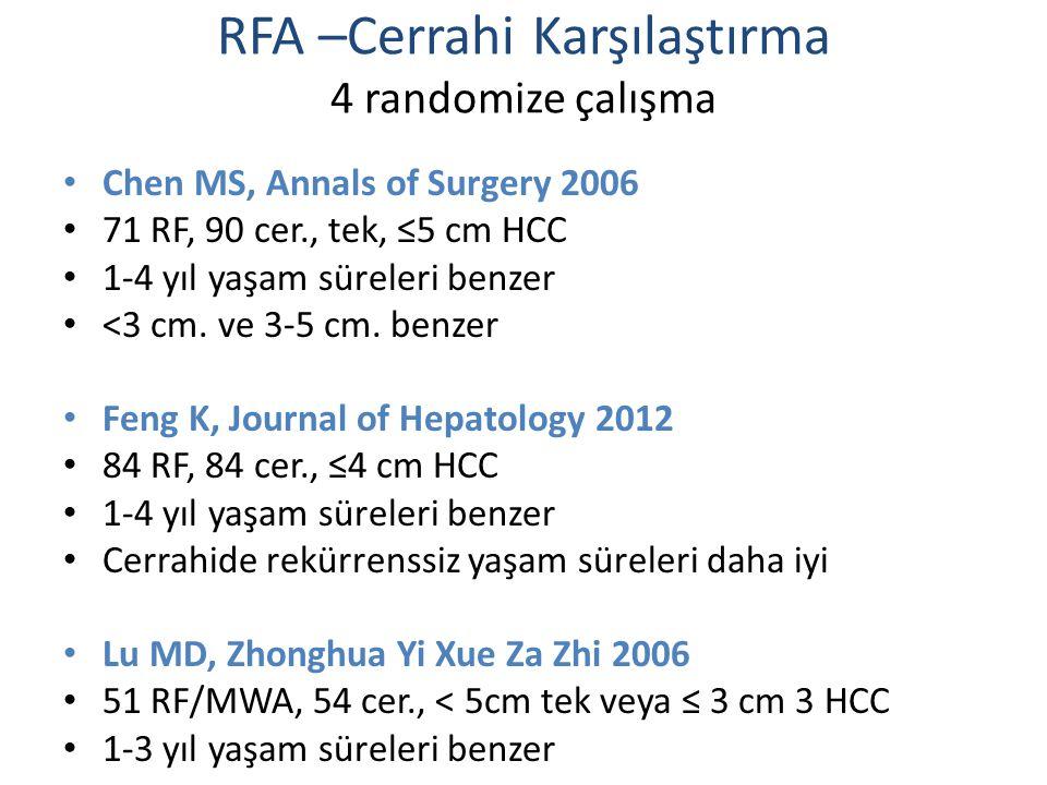 RFA –Cerrahi Karşılaştırma 4 randomize çalışma