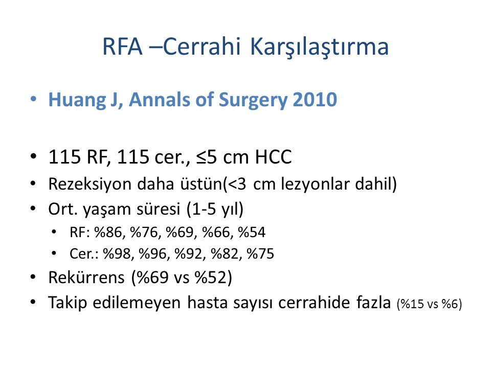 RFA –Cerrahi Karşılaştırma