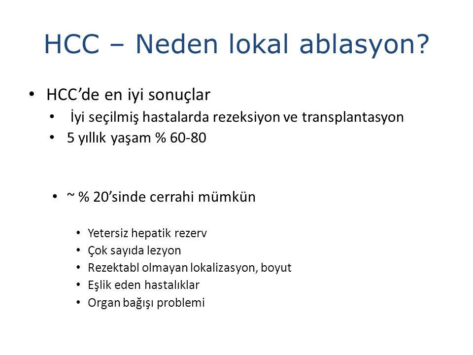HCC – Neden lokal ablasyon