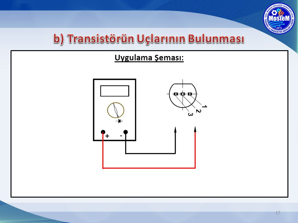 b) Transistörün Uçlarının Bulunması
