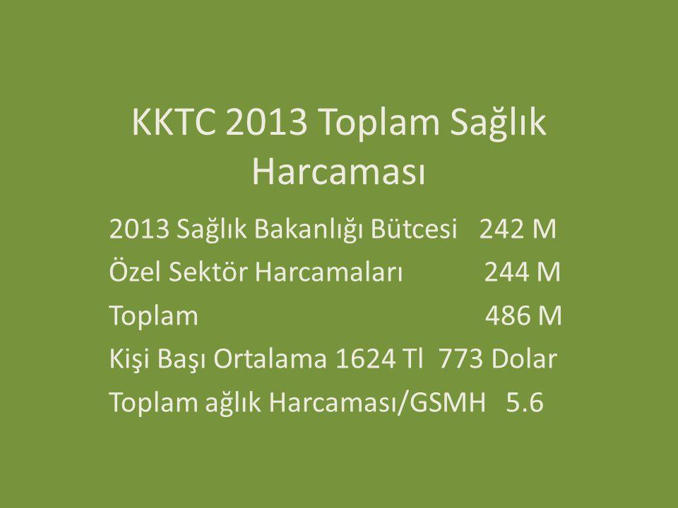 KKTC 2013 Toplam Sağlık Harcaması
