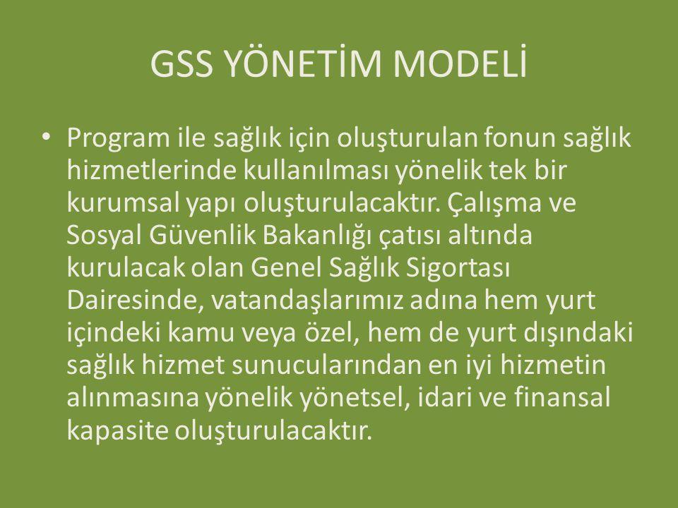 GSS YÖNETİM MODELİ
