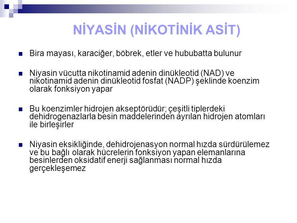 NİYASİN (NİKOTİNİK ASİT)