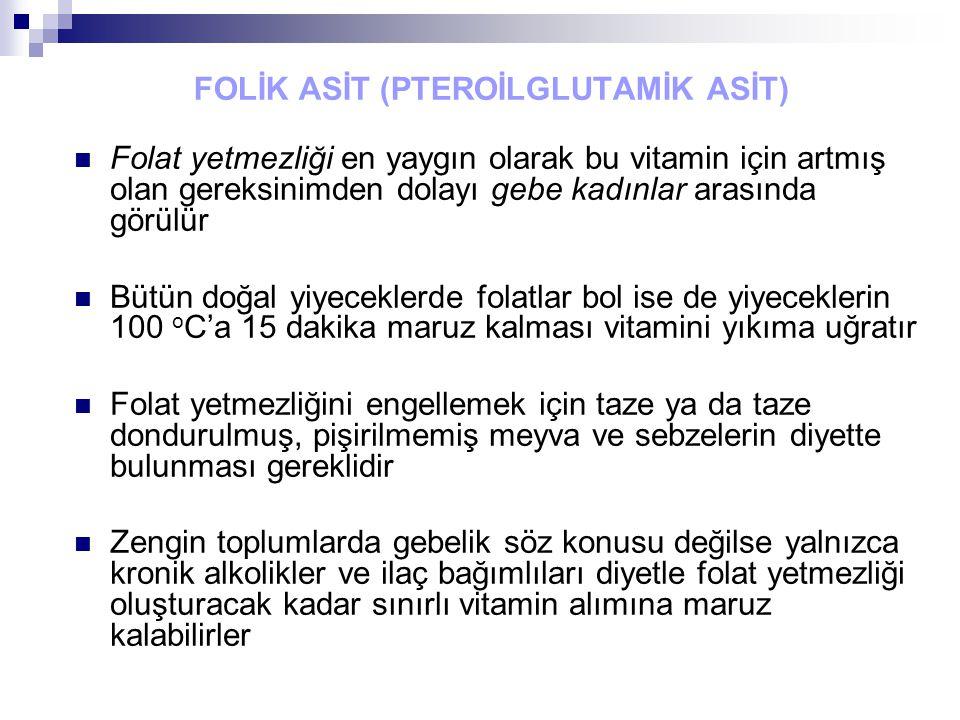 FOLİK ASİT (PTEROİLGLUTAMİK ASİT)