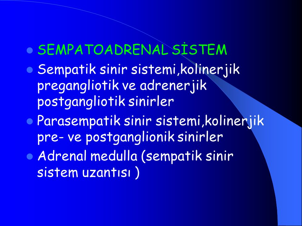 SEMPATOADRENAL SİSTEM