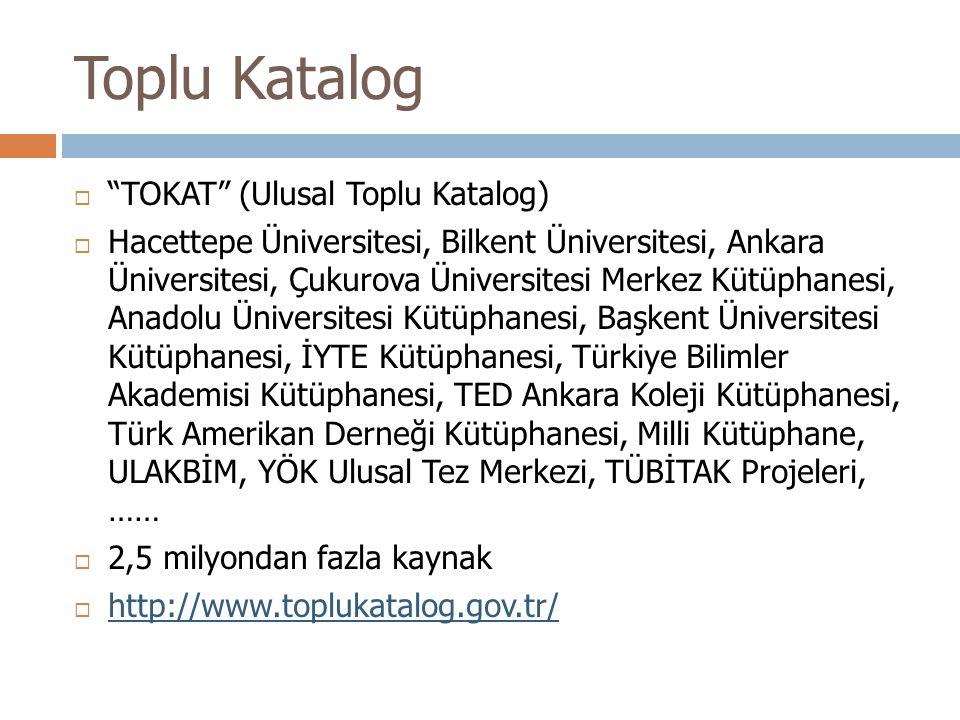 Toplu Katalog TOKAT (Ulusal Toplu Katalog)