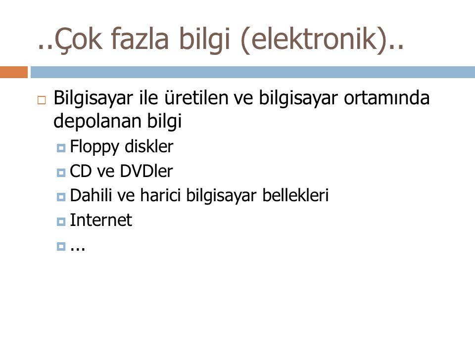 ..Çok fazla bilgi (elektronik)..
