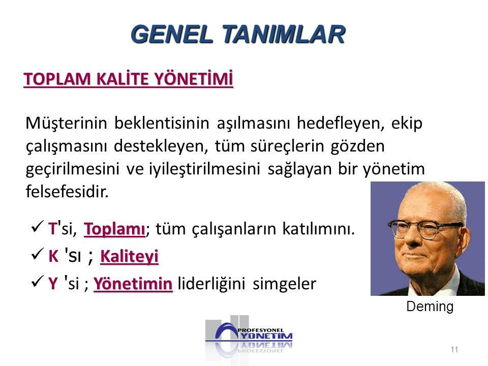 GENEL TANIMLAR TOPLAM KALİTE YÖNETİMİ.