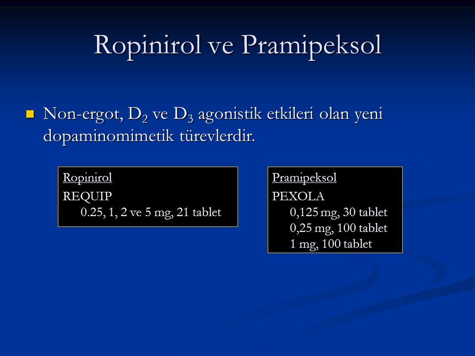 Ropinirol ve Pramipeksol
