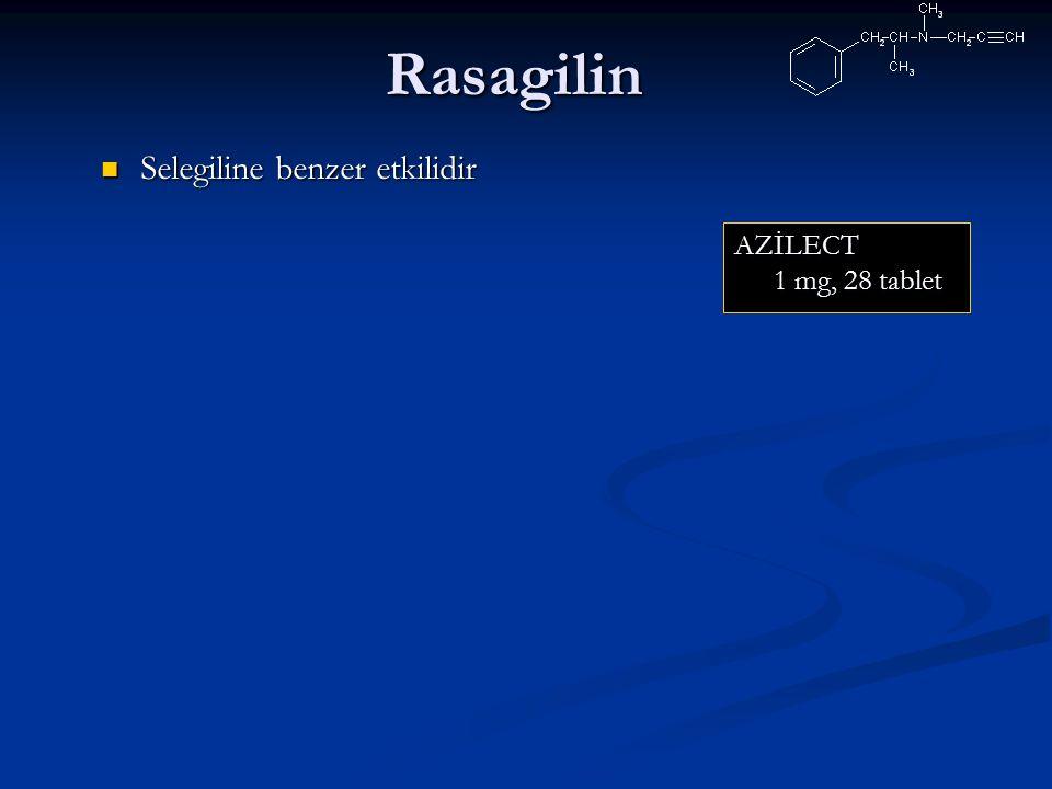 Rasagilin Selegiline benzer etkilidir AZİLECT 1 mg, 28 tablet