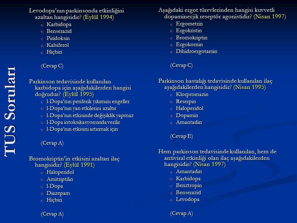 Levodopa'nın parkinsonda etkinliğini azaltan hangisidir (Eylül 1994)