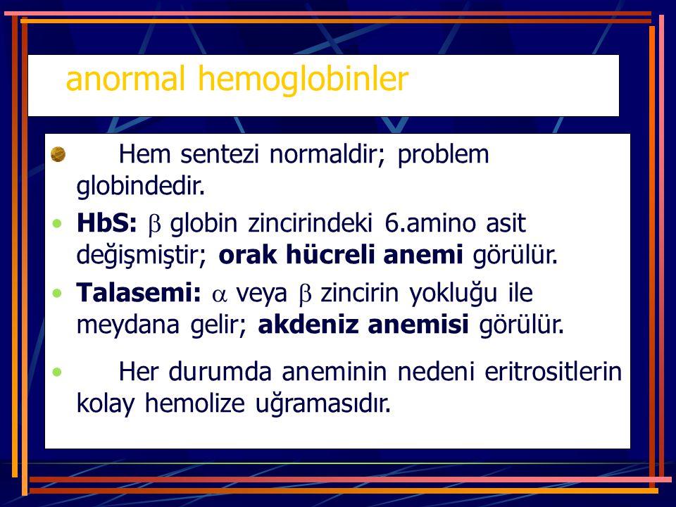 anormal hemoglobinler