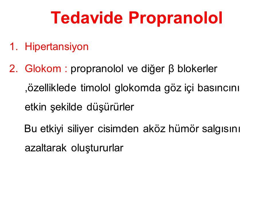 Tedavide Propranolol Hipertansiyon