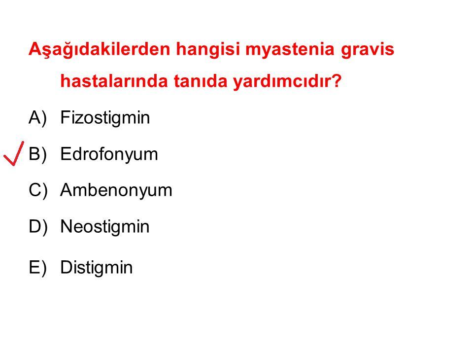 Aşağıdakilerden hangisi myastenia gravis hastalarında tanıda yardımcıdır