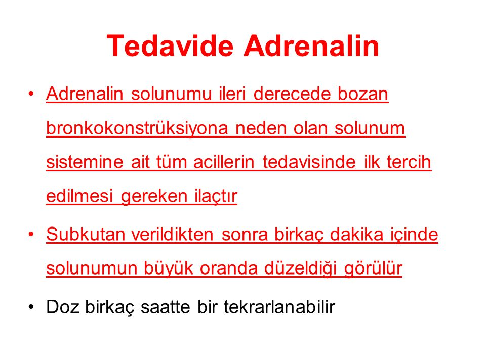 Tedavide Adrenalin