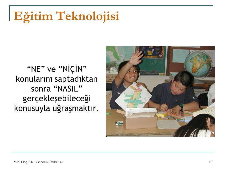 Eğitim Teknolojisi NE ve NİÇİN konularını saptadıktan sonra NASIL gerçekleşebileceği konusuyla uğraşmaktır.