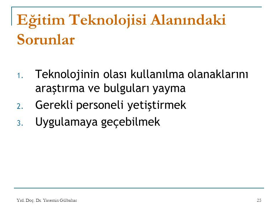 Eğitim Teknolojisi Alanındaki Sorunlar