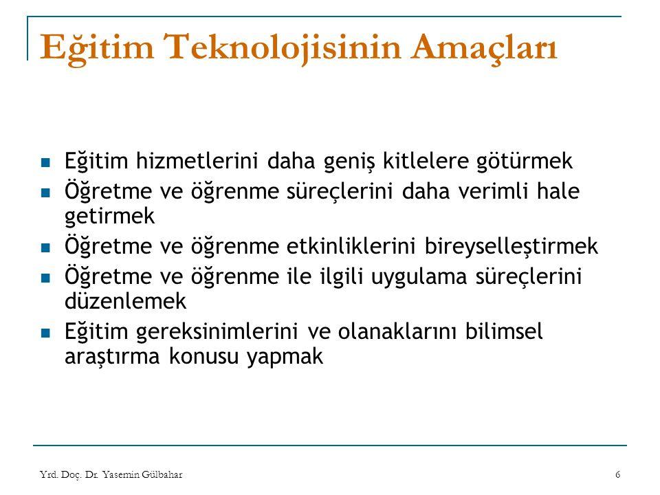 Eğitim Teknolojisinin Amaçları