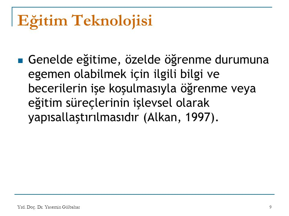 Eğitim Teknolojisi