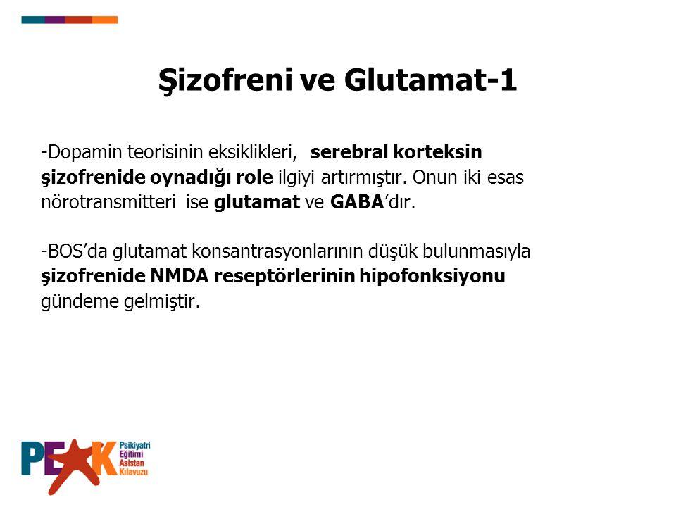 Şizofreni ve Glutamat-1