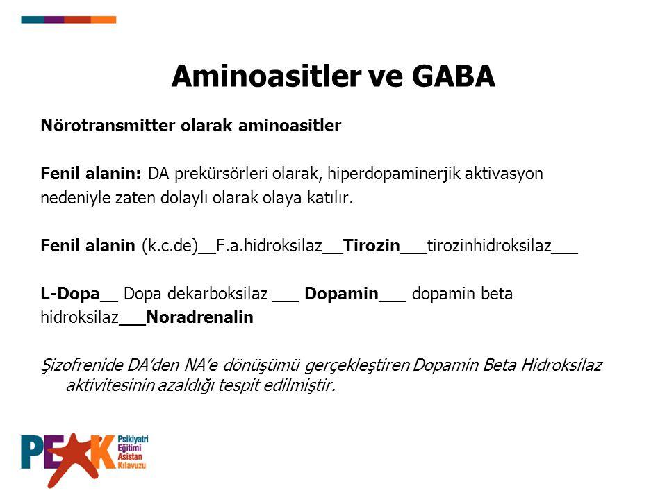 Aminoasitler ve GABA Nörotransmitter olarak aminoasitler