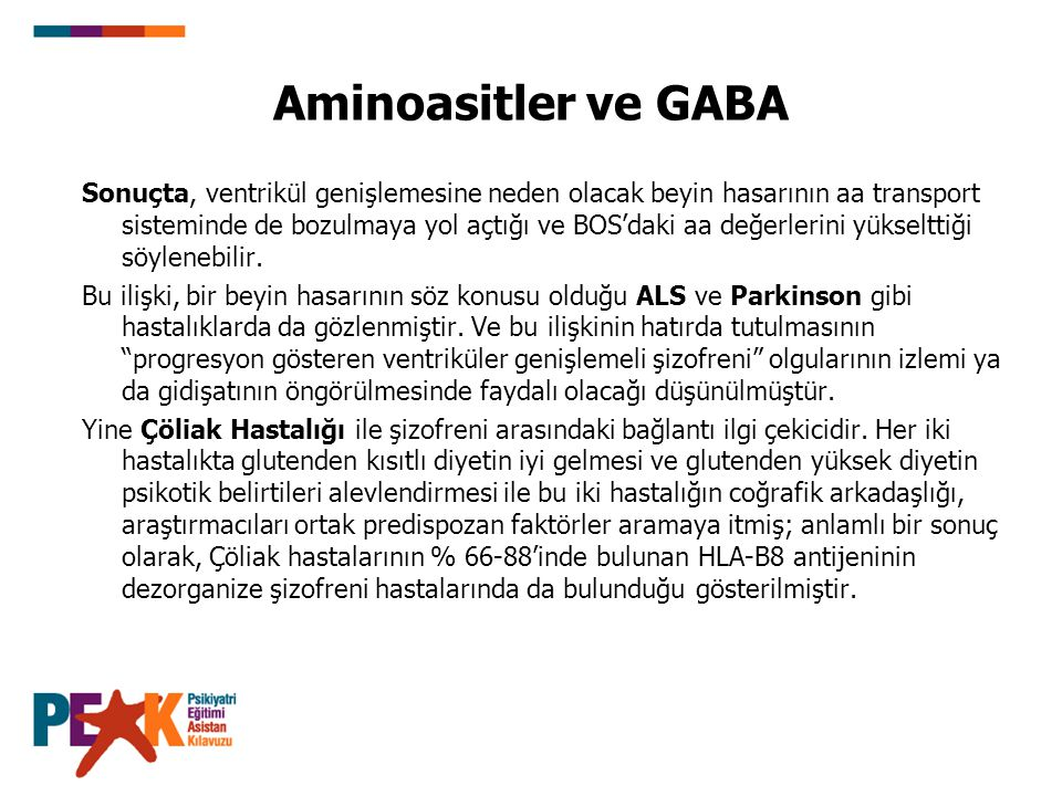Aminoasitler ve GABA