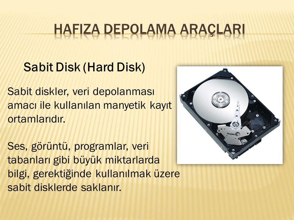 HAFIZA DEPOLAMA ARAÇLARI