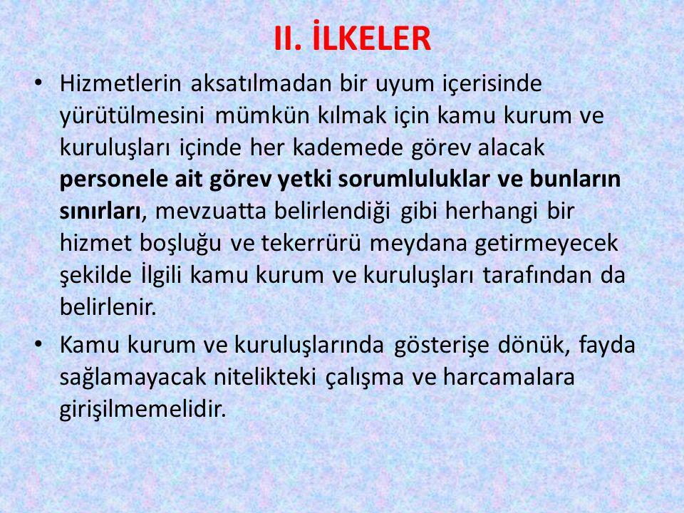 II. İLKELER
