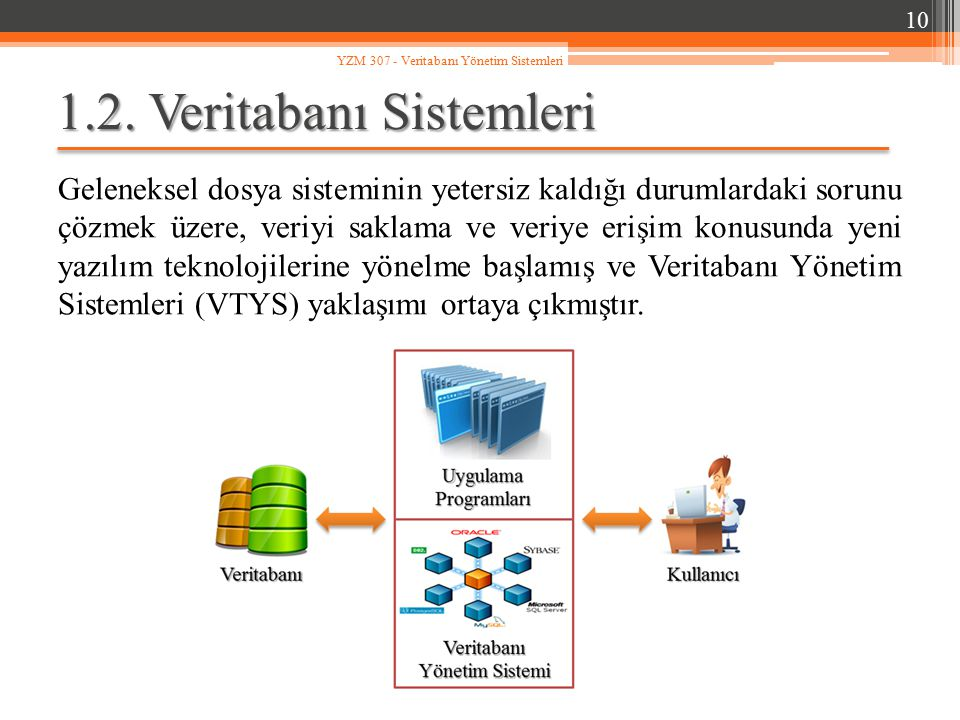 1.2. Veritabanı Sistemleri