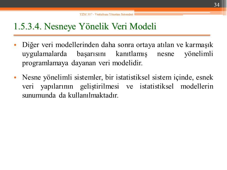 1.5.3.4. Nesneye Yönelik Veri Modeli