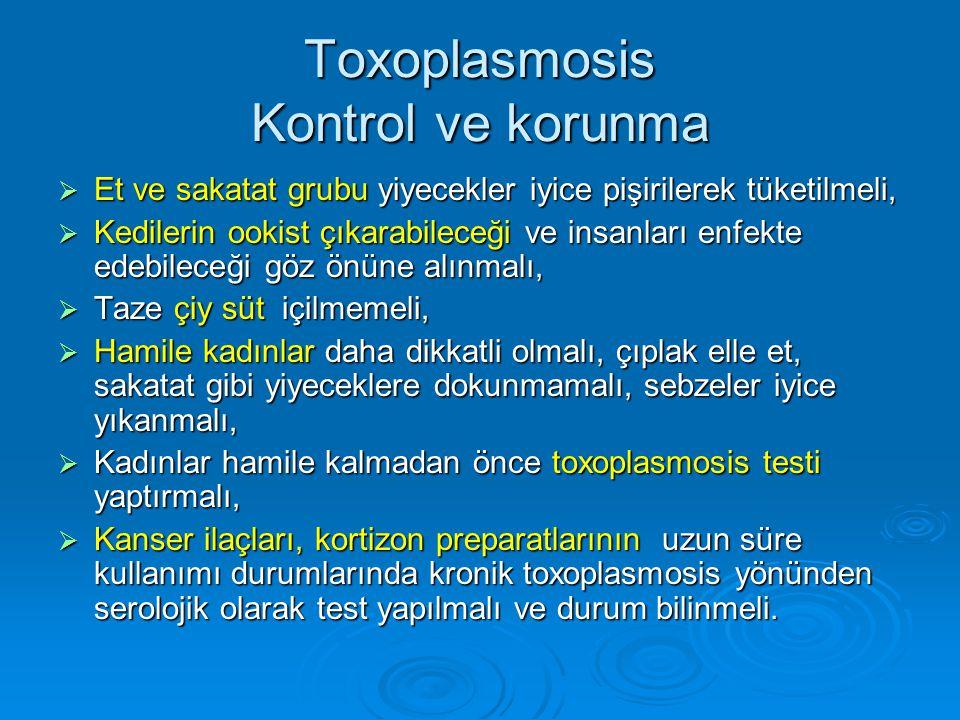 Toxoplasmosis Kontrol ve korunma