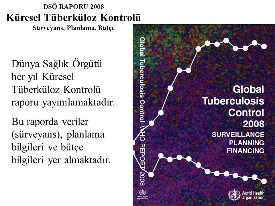 DSÖ RAPORU 2008 Küresel Tüberküloz Kontrolü Sürveyans, Planlama, Bütçe