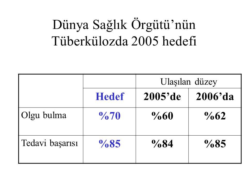 Dünya Sağlık Örgütü'nün Tüberkülozda 2005 hedefi