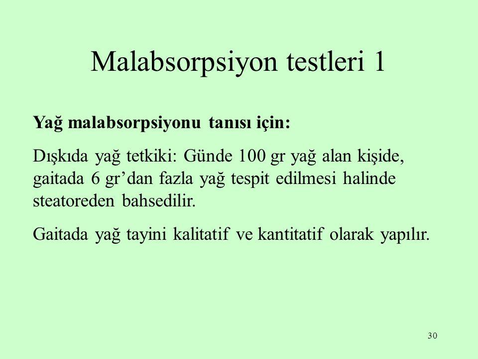 Malabsorpsiyon testleri 1