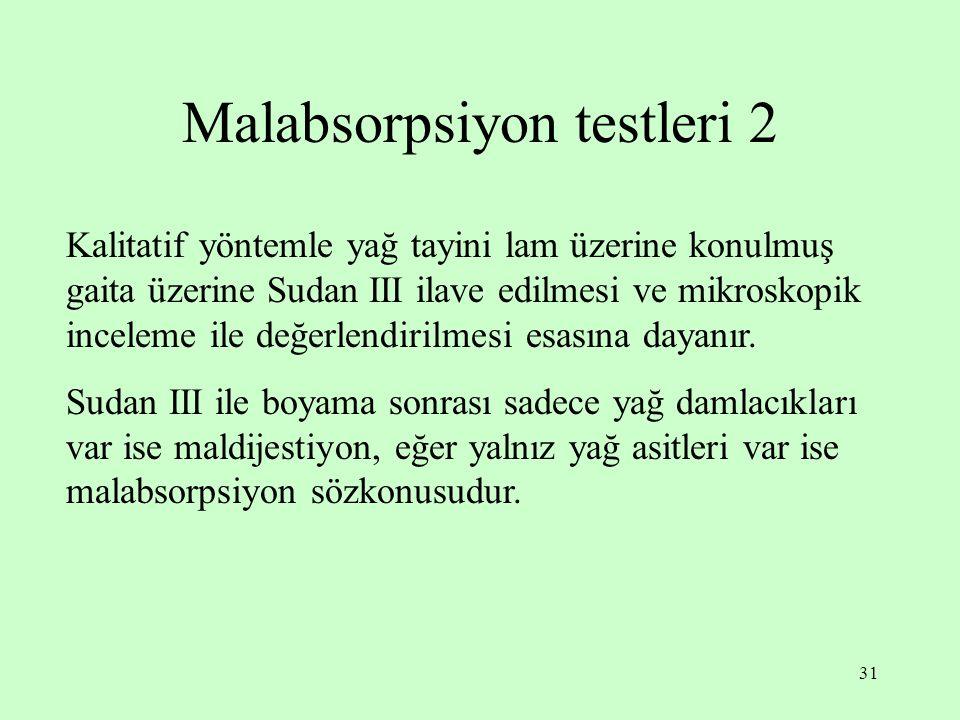 Malabsorpsiyon testleri 2