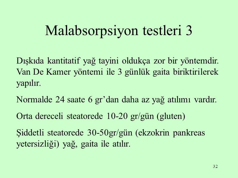 Malabsorpsiyon testleri 3