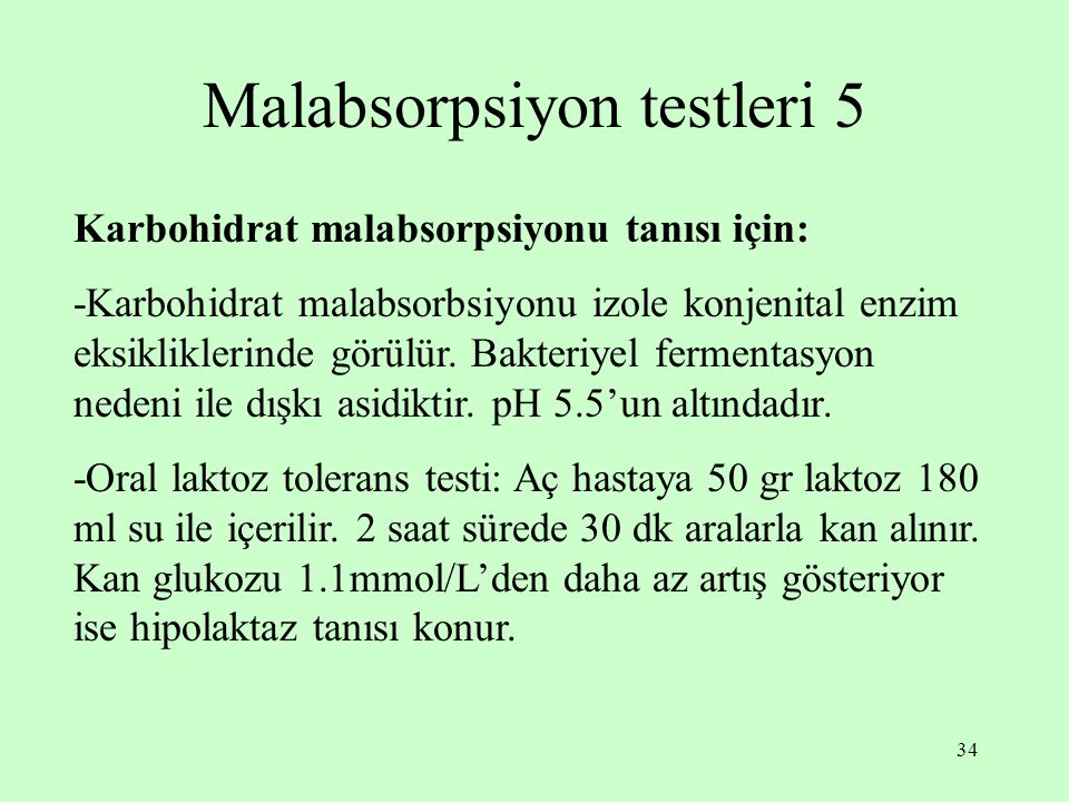 Malabsorpsiyon testleri 5