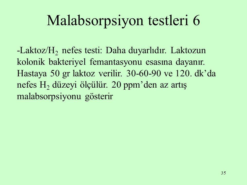Malabsorpsiyon testleri 6