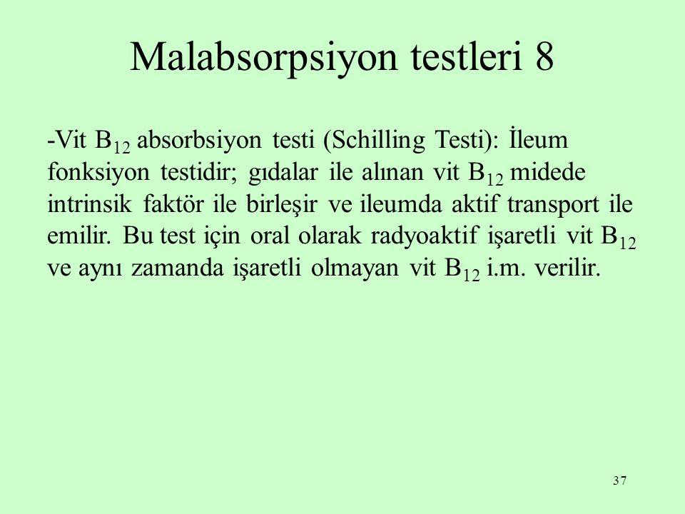 Malabsorpsiyon testleri 8