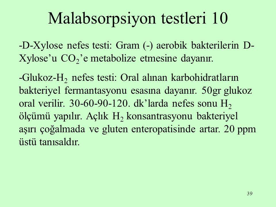 Malabsorpsiyon testleri 10