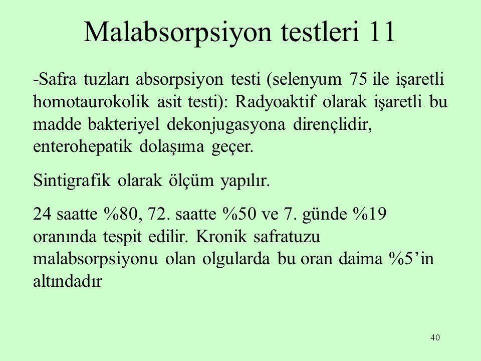 Malabsorpsiyon testleri 11