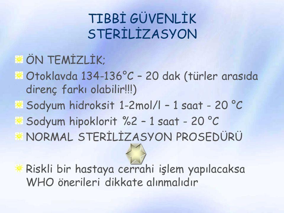 TIBBİ GÜVENLİK STERİLİZASYON