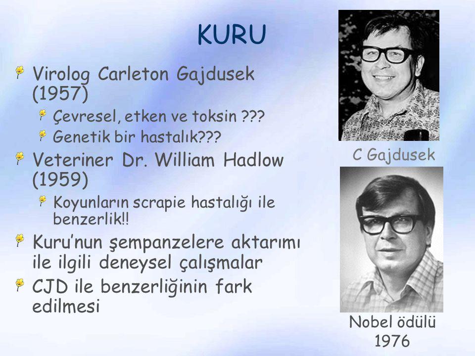 KURU Virolog Carleton Gajdusek (1957)