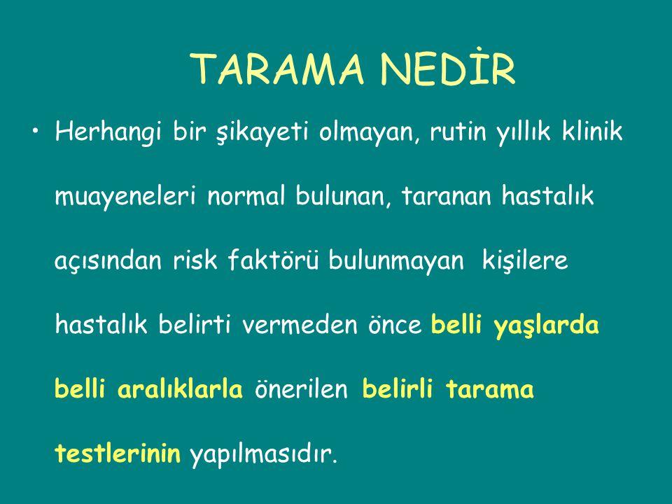 TARAMA NEDİR