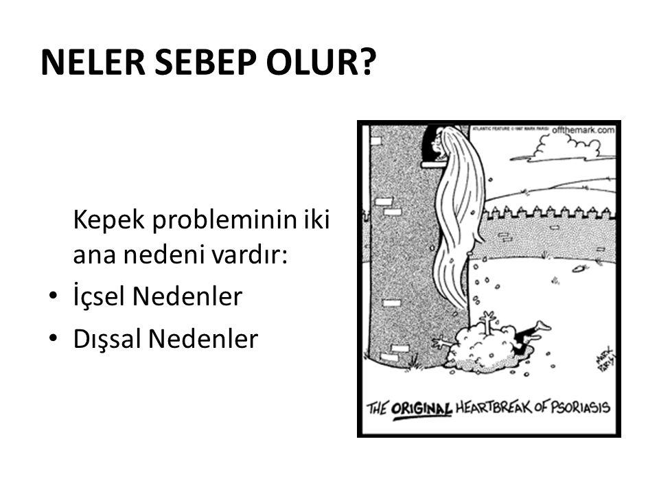 NELER SEBEP OLUR Kepek probleminin iki ana nedeni vardır: