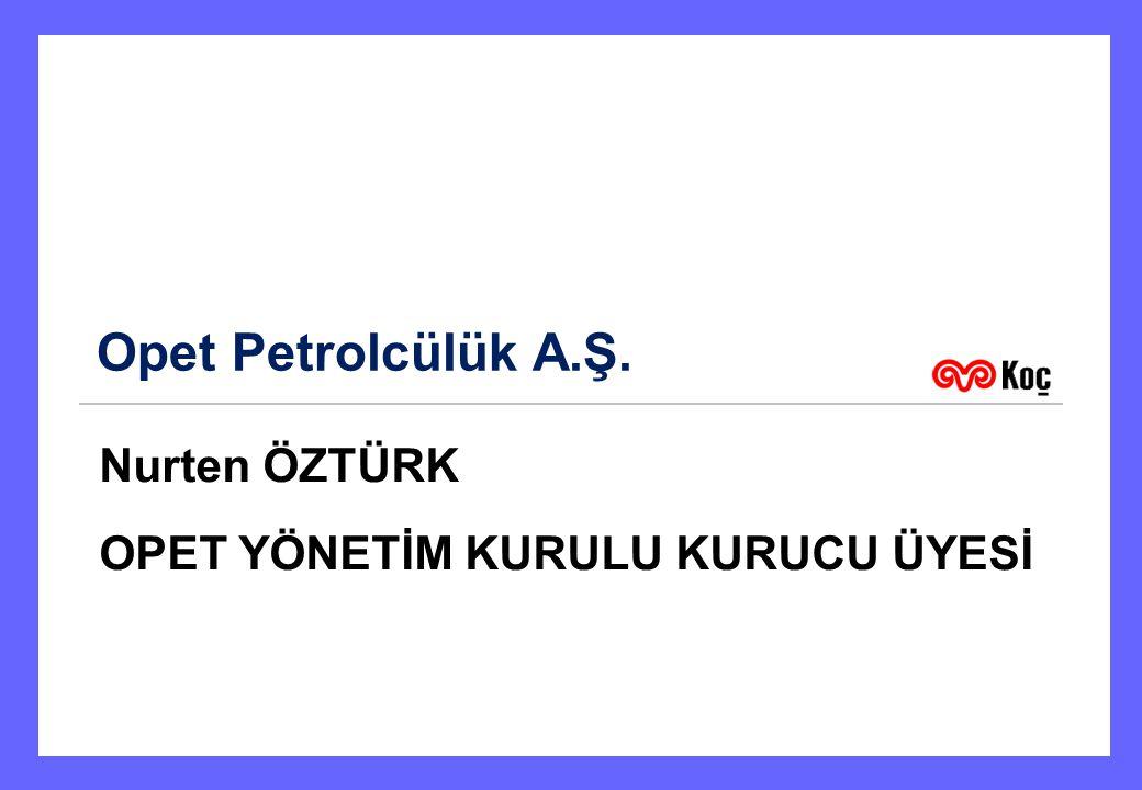 Opet Petrolcülük A.Ş. Nurten ÖZTÜRK OPET YÖNETİM KURULU KURUCU ÜYESİ 1
